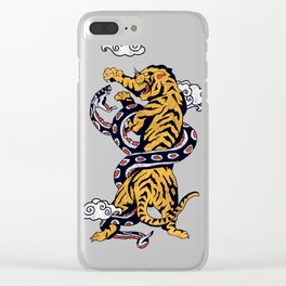 Tiger vs Snake Clear iPhone Case