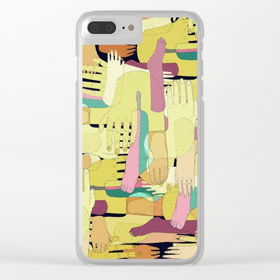 hands confusion Clear iPhone Case