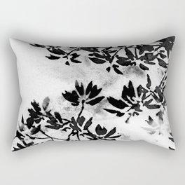 Contrast Botanical Rectangular Pillow