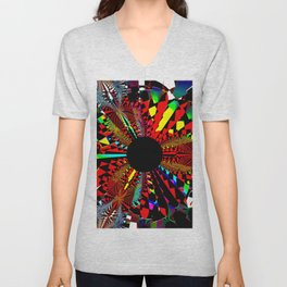 Dartboard abstract Unisex V-Neck