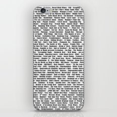 Crazy Fantastic Dirty Wine List iPhone & iPod Skin