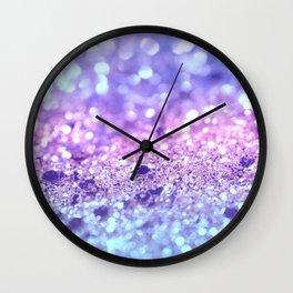 Summer Unicorn Girls Glitter #2 #shiny #pastel #decor #art #society6 Wall Clock