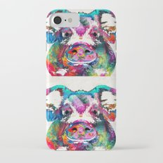 Colorful Pig Art - Squeal Appeal - By Sharon Cummings Slim Case iPhone 7