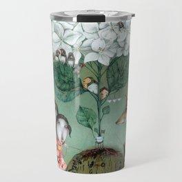 Herbal Tea-White Hydrangea Travel Mug