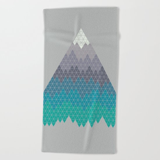 Many Mountains Beach Towel