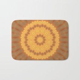 Kaleidoscope Of Gold Bath Mat