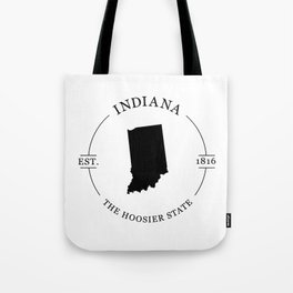 Indiana - The Hoosier State Tote Bag