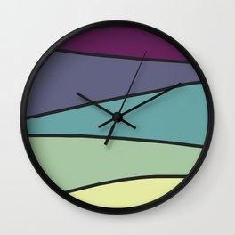 Purple Saw 2 Wall Clock