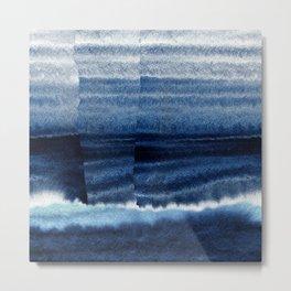 Blue Escape Watercolor Metal Print