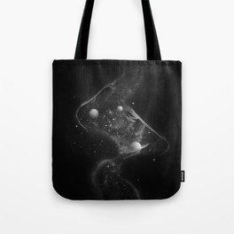 Starry kisses B&W. Tote Bag