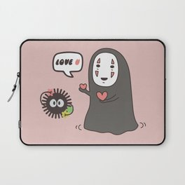 No-Face in Love of SootBall Laptop Sleeve