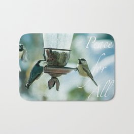 Peace For All by CheyAnne Sexton Bath Mat