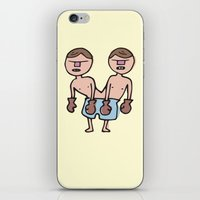 chicago bulls iPhone & iPod Skins featuring Raging Bulls by Nick Dauphin