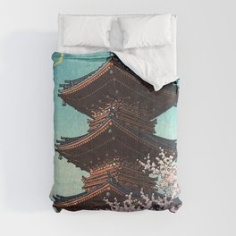 Spring Evening, Ueno Toshogu Shrine - Hawase Kasui Comforters