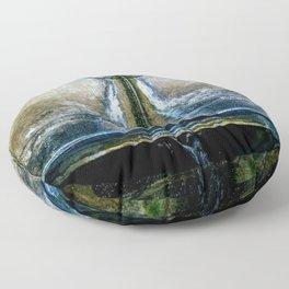 Fountain Bleu Floor Pillow