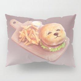 Smile Dog Burger Pillow Sham