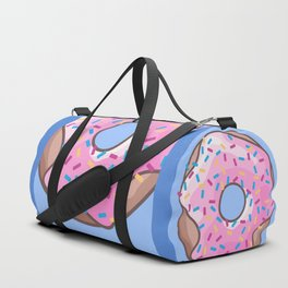 Pink Strawberry Donut Duffle Bag