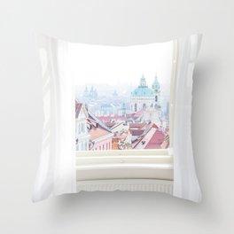 A View Over Prague, Czech Republic Throw Pillow
