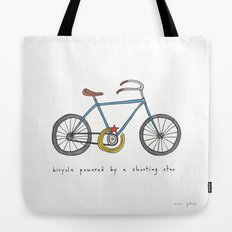 bicycle powered by a shooting star Tote Bag