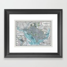 Washington City Framed Art Print