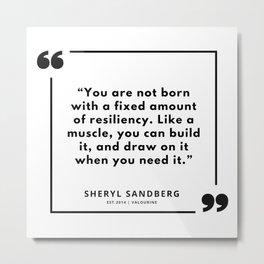 27 | Sheryl Sandberg Quotes | 190902 Metal Print
