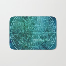 Zodiac Star Map Bath Mat
