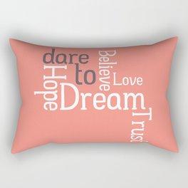 Dare to Love -- Alternate Version Rectangular Pillow