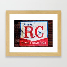 RC Cola Sign Framed Art Print