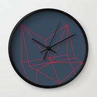polygon Wall Clocks featuring Polygon by Rubraga