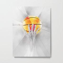 Basketball is life Metal Print