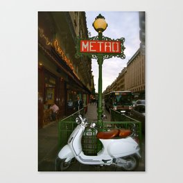 Paris scooter Canvas Print