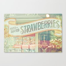 Hand-Dipped Strawberries Canvas Print