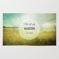 wander Area & Throw Rugs featuring Wander by Olivia Joy StClaire