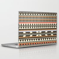 background Laptop & iPad Skins featuring DG Aztec No.1 by Dawn Gardner