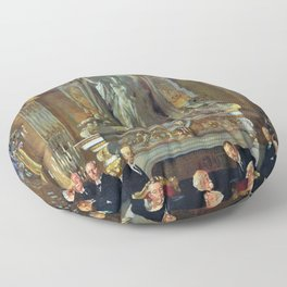 12,000pixel-500dpi - A Peace Conference at the Quai d'orsay - Sir William Orpen Floor Pillow