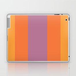 Bold Stripes Purple/Orange Laptop & iPad Skin