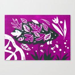 Hedgehog - Fuchsia Palette Canvas Print