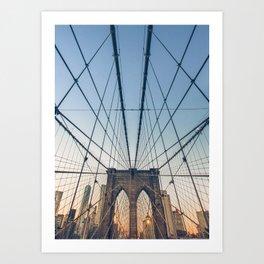 Brooklyn Bridge New York City Art Print