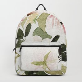 Romantic Loose Rose Bouquet Backpack