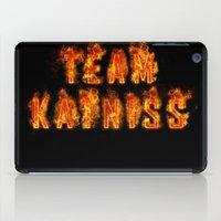 katniss iPad Cases featuring Team Katniss by pirateprincess