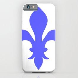 Fleur de Lis (Azure & White) iPhone Case