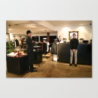 men Canvas Prints featuring men  by Mary Wyland-Hickmott