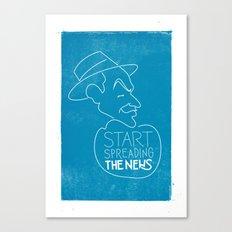 Frank Sinatra - Start Spreading The News Canvas Print