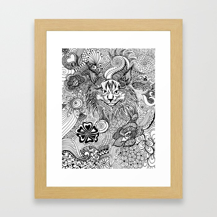 Curious Cat Framed Art Print