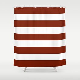 Kenyan copper - solid color - white stripes pattern Shower Curtain