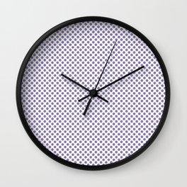 Paisley Purple Polka Dots Wall Clock