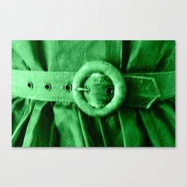 Green Vintage BELT Canvas Print
