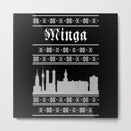 Minga Ugly Metal Print