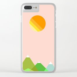Hills and Sunshine Clear iPhone Case