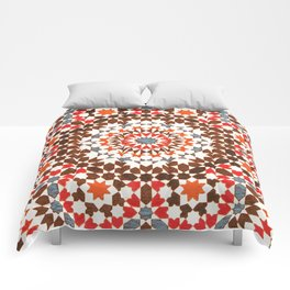 N64 - Traditional Geometric Moroccan Vintage Style Artwork Comforters